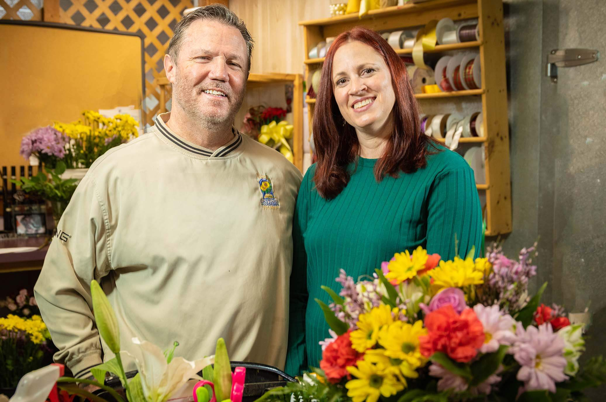 Committed to local businesses like Cattails Country Florist