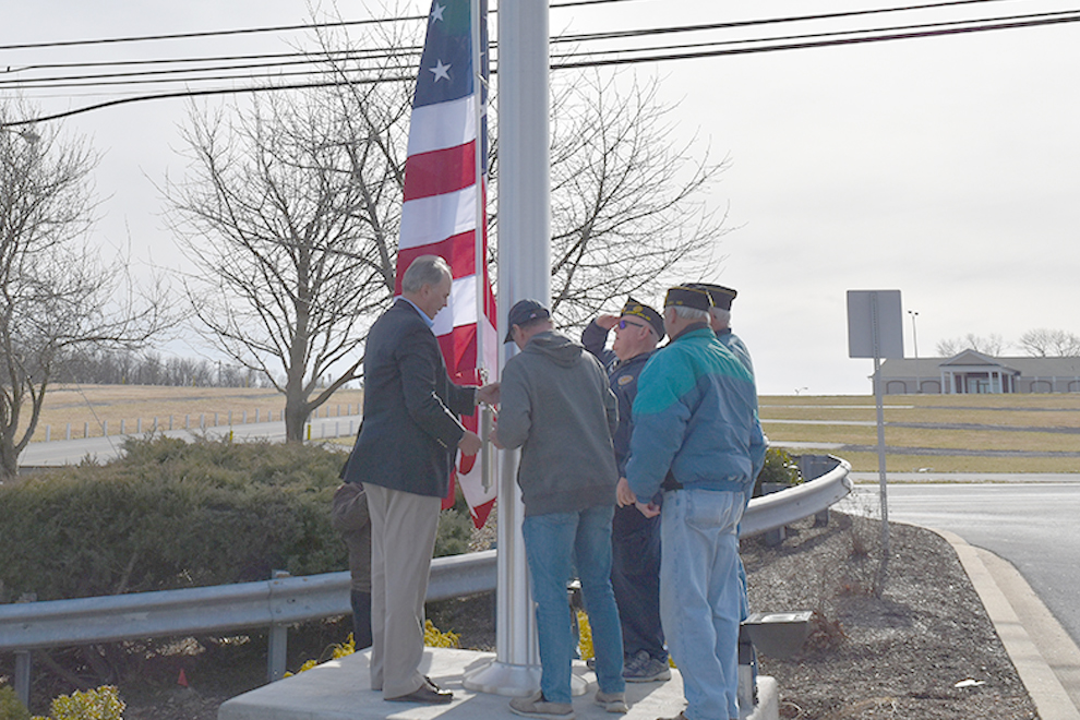 Mt. Airy Office Flag Raising