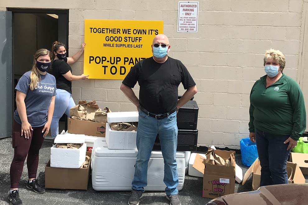 Local nonprofits received the meals