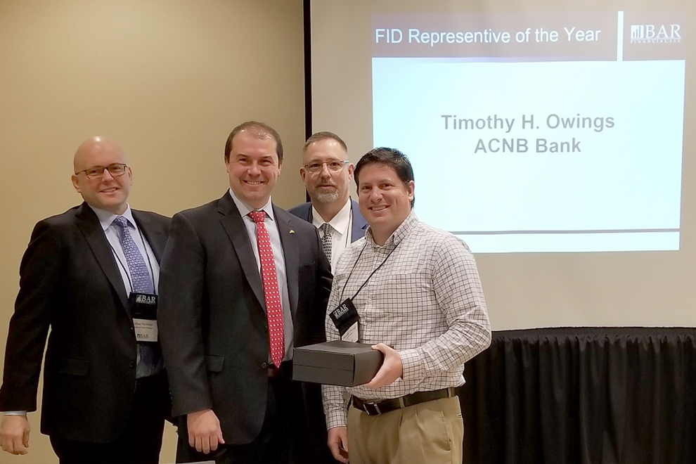 Tim Owings Receives 2018 Representative of the Year Award